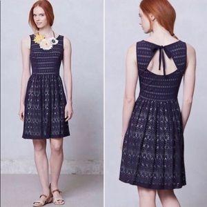 Anthropologie Postmark purple lace dress. Size M